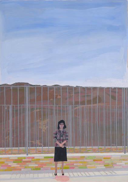 desert scene, 16'' x 26'', gouache on paper (2008)